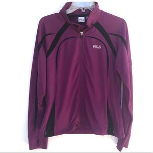 FILA Sport | Purple Zip Up Running Jacket